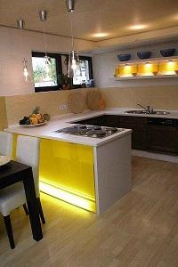 Vorher-Nachher Bild Küche im Keller