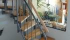 Treppen aus Holz und Metall