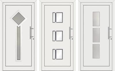 Haustüren weiß mit glas  Haustüren: einfach schön