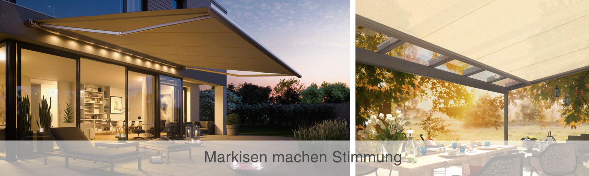 Markisen und Beschattungen von Weinor mit Wulf und Berger perfekt geplant und installiert