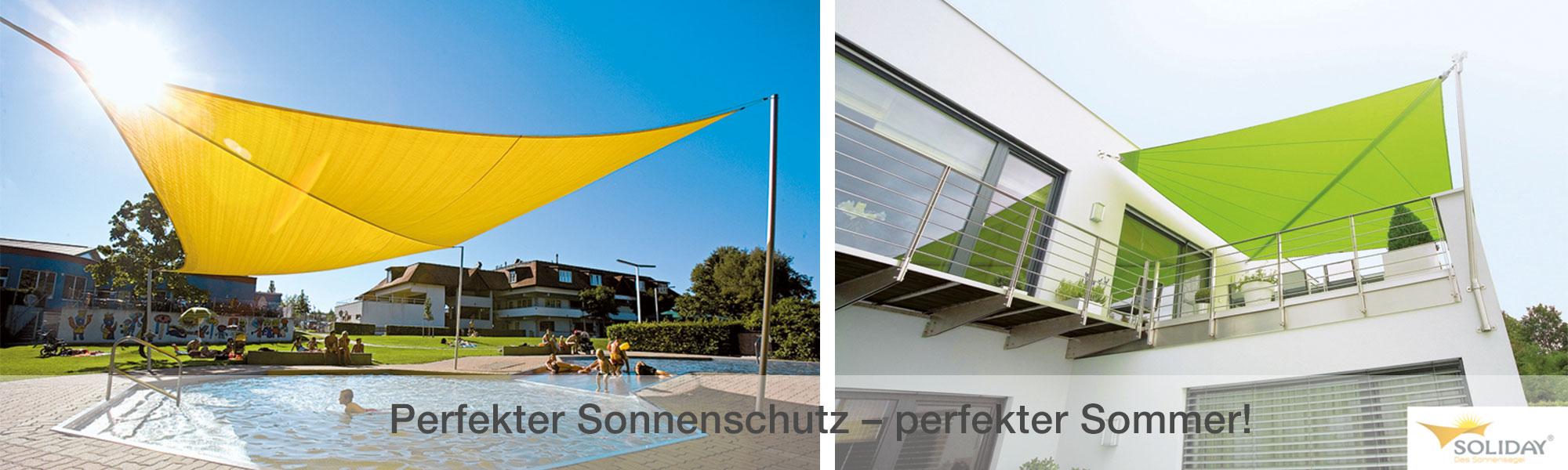 Mit Sonnensegel von Soliday gut beschattet den Sommer genießen!