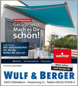 Weinor Markisen bei Wulf und Berger
